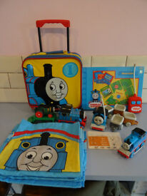 Thomas the Tank Engine bundle. Board game, case, radio controlled train, duvet set and more