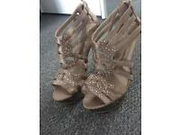 Miss KG gold high heel shoes