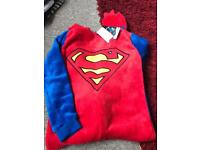 Superman onesie age 10-11 bnwt