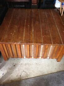 Very large wooden storage box