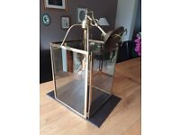 Elegant large brass hall lantern. 56cm x 28cm. Bulb included. Buyer to collect.