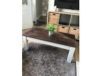 Chunky Rustic Farmhouse Style Coffee Table