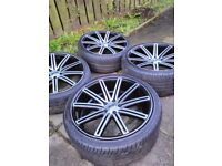 5x112 20 inch wheels good condition 3tyres is ok 1 is aboaut 0,5mm