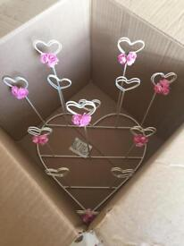 Wedding/party table planner and table number holders