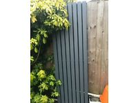 Flat panel anthracite double radiator