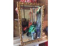Gilded frame mirror, Ornate