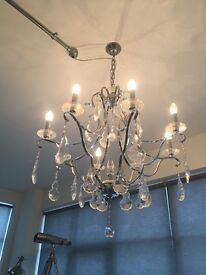Chrome and Crystal chandelier - MAKE ME AN OFFER