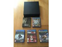 Playstation 4 with 5 games - GTA V, NBA 2K16, Fallout 4 (Steelbook), Destiny and Shadow of Mordor.