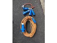 Boat/ Caravan Electrical Hookup Waterproof With Spare Plugs