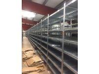2nd hand supershelf shelving with 5 shelf levels