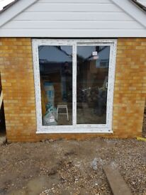 PATIO DOORS UPVC. PRACTICALLY NEW, MANUFACTURED 11/01/18