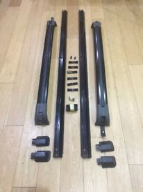 Roof bar kit for Range Rover L322 (02 - 12) + locking cross rails and rack, genuine parts