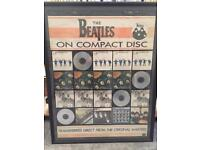 The Beatles- 1987 Promotional Display for 1st 4 Compact Disc releases Framed