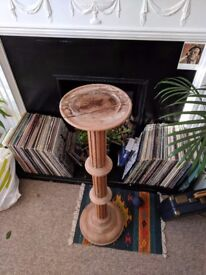 Wooden decorative plinth, perfect for house plants