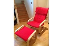 Ikea Poang Chair & Footstool - MUST GO!!!