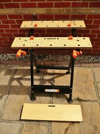 Worx Workmate / Workbench Removable Central Panel Adjustable Height and Angle 15-75 Degrees DIY Tool