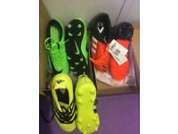 3 x kids football boots sizes : 5 and 5 ½ and 4