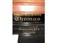 Harmonium - Thomas Woodstock manufacturer Hamilton & Co 1842 Stokes Croft