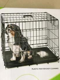 Pet Collection Double Door Dog Crate + Dog Bed