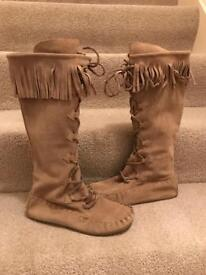 Brand New Brown Suede Boots