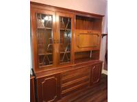 Vintage Solid Wood Display Cabinet- perfect for upcycling