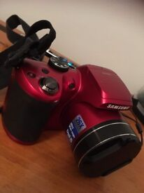 Samsung Digital Camera W8100 (red) bag and memory card included