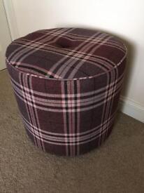 Tartan fabric footstool (New ex display)