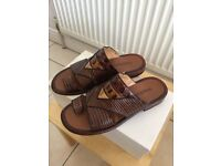 Men's croc lizard sandals from Russel&Bromley