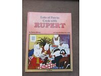 Lots of Fun to Cook with Rupert - Hardback Book