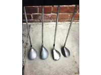 4 left handed golf clubs £10