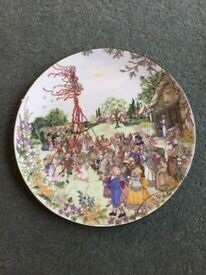 Wedgewood decorative May Day plate.