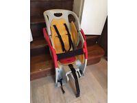 CoPilot Baby/Child Bike Seat + Bike rack - £25