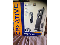 CREATIVE STEREO SPEAKERS BOXED AS NEW BARGAIN AT £25