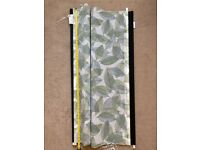 Leaf pattern blackout roller blinds - 2x 118cm available