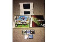 White Nintendo ds lite and games mario