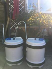 Water butts for Caravan x 2 bargain for both