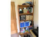 Beech coloured bookcase