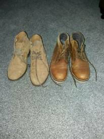 Two pairs of boots. Size 9