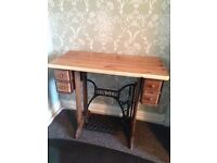 Table coffee side dining singer sewing machine