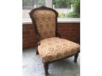 Antique upholstered nursing chair