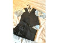 Boys Waist Coat, Tie and Trousers age 4-5 years old from Monsoon and Shirt from M&S. As new.