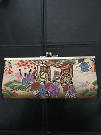 Japanese embroidery gold purse