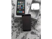 iPhone 5s 64GB silver black vgc
