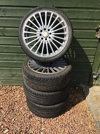 17 Inch Alloy Wheels with tyres.