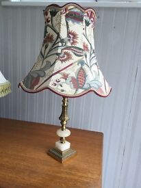 """A """"Brass"""" and Onyx Table Lamp"""