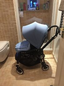 Bugaboo bee3 black frame with hood and cocoon