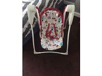 Baby swing, bouncer and bath seat