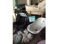 Baby starter set crib ,bath , car seat etc used for few weeks total bargain for someone with budget