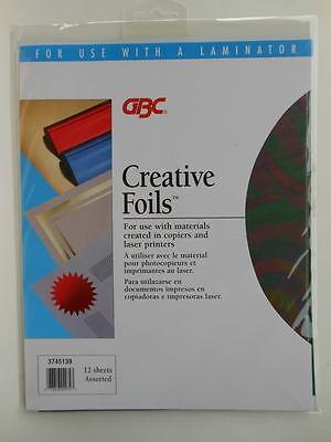 2 Pks Creative Foils Gbc 24 Sheets Laminator Colors Red Gold Blue Silver Green