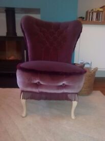 Upholstered occasion or bedroom chair